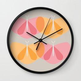 Fiesty Flutterby Wall Clock