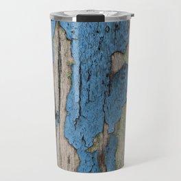 Blue Weathered Wood Travel Mug