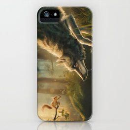 Want a Nut? (Wolf and Squirrel) iPhone Case