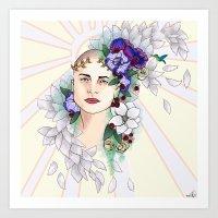 tiffany Art Prints featuring tiffany by Tiioga
