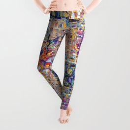 Abstract Glass Blocks Leggings