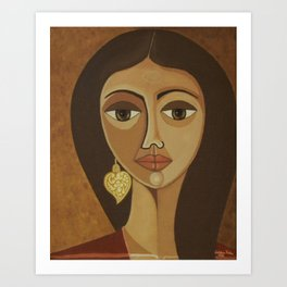 The portuguese earring Art Print