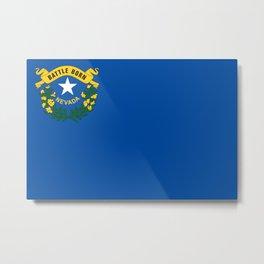 Flag of Nevada Metal Print