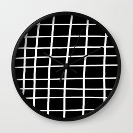 Hand Grid Large Black Wall Clock