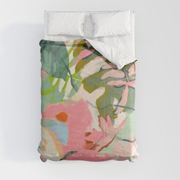 tropical home jungle abstract Comforters