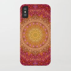 Love Will Find A Way -- Kaleidescope Mandala in the colors of Love Slim Case iPhone X