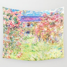 MONET : The House Among the Roses Wall Tapestry