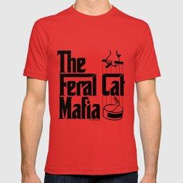The Feral Cat Mafia (BLACK printing on light background) T-shirt