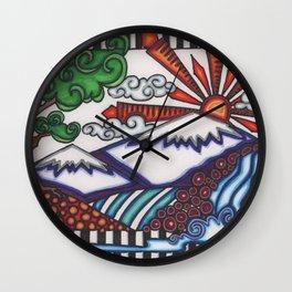 mountain hue Wall Clock