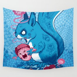 Zombie Squirrel Wall Tapestry
