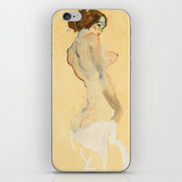 """Egon Schiele """"Standing Nude with White Drapery"""" iPhone Skin"""
