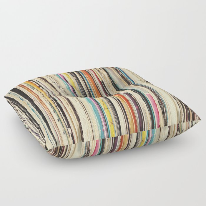 Record Collection Floor Pillow