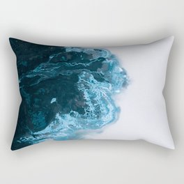 Abstract Aerial Lake in Iceland – Minimalist Landscape Photography Rectangular Pillow