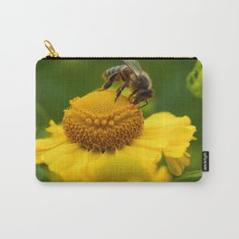 Honey Bee on a Helenium Flower Carry-All Pouch