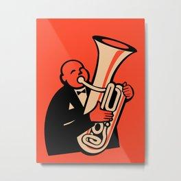 The Tuba Metal Print