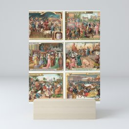Vintage Collectible Cards - Liebigbilder Series 710 - Carnivals from Different Times (1907) Mini Art Print