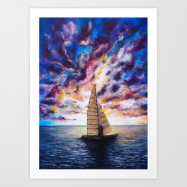 Marina Dreams  Sunset Art Print