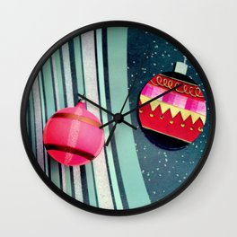 A Bit Of Pink Plaid Wall Clock