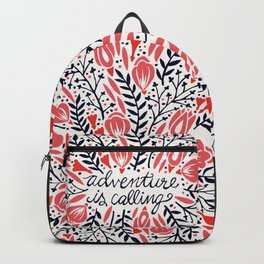 Adventure is Calling – Red & Black Palette Backpack