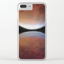 Super blood moon Clear iPhone Case