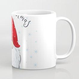 Cute Cheerful Gnome With Phrase Merry Christmas Coffee Mug