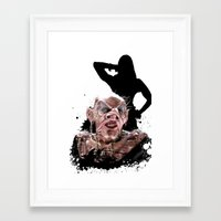 monster high Framed Art Prints featuring Monster Madness: Grand High Witch  by SB Art Productions