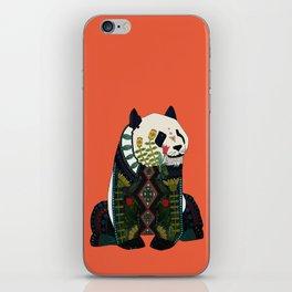 panda orange iPhone Skin