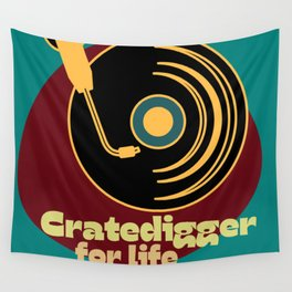 Cratedigger For Life Wall Tapestry