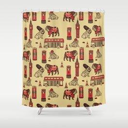 London English Bulldog Shower Curtain