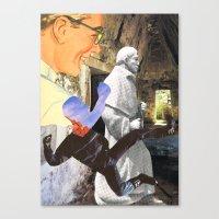 spiritual Canvas Prints featuring Spiritual Freefall by Michael Harford