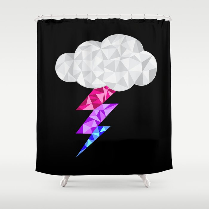 Bisexual Storm Cloud Shower Curtain