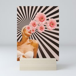 Blossom flower girl Mini Art Print