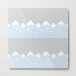 snow mountains baby room Metal Print