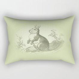 Bunny Rabbit {soft sage green} Rectangular Pillow
