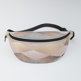 Copper and Blush Rose Gold Marble Argyle Fanny Pack