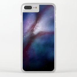 New York: City of Stars (Blue) Clear iPhone Case