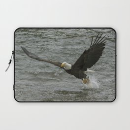 Bald  Eagle catching fish from river. Laptop Sleeve
