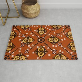 African Inspired (Diamonds and Eyes) Rug
