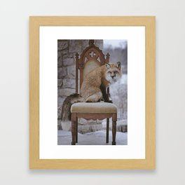 Fox on a Throne Framed Art Print