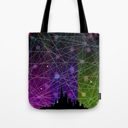 A Futurist's Starry Night Tote Bag