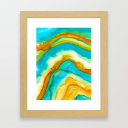 AGATE Inspired Watercolor Abstract 10 Framed Art Print