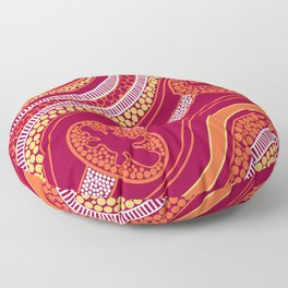 Authentic Aboriginal Art - Animals Floor Pillow