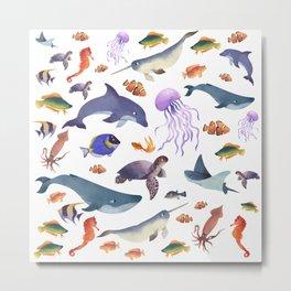 Fish in the Ocean Metal Print