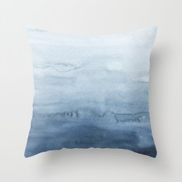 Indigo Abstract Painting | No. 4 Throw Pillow