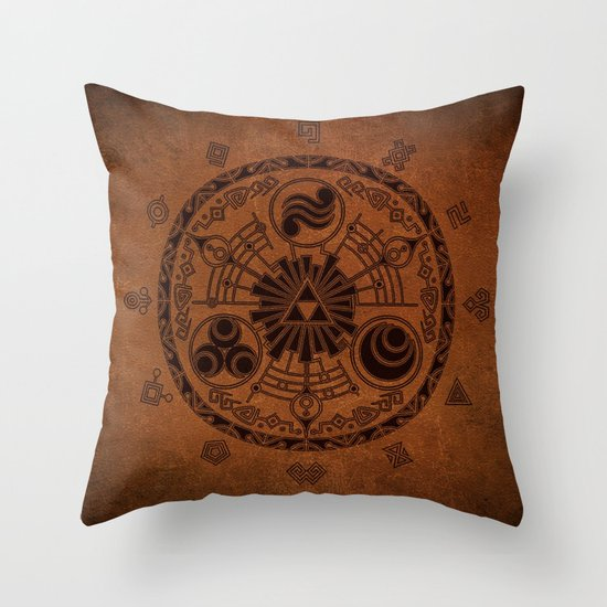Zelda Throw Pillow : The Legend Of Zelda Throw Pillow by Electra Society6