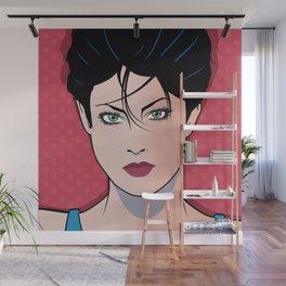 Beautiful Pop Art Woman Sara Wall Mural