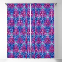 D20 Icosahedron Mandala Pattern Blackout Curtain