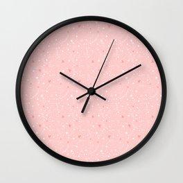 Pink stars Wall Clock
