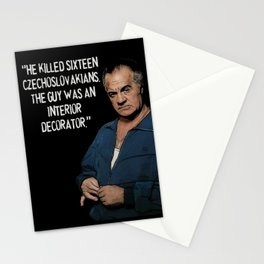 Sopranos - Paulie Walnuts (white letters) Stationery Cards
