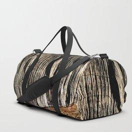 tree bark and wood Duffle Bag